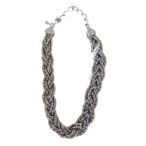 Express | Steely Grey Braided Necklace